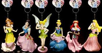 正版行货迪士尼公主钥匙链 之小美人鱼 海的女儿 爱丽儿公主Ariel