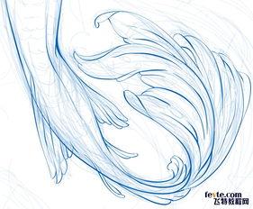 人鱼素描-AI绘制水彩美人鱼插画