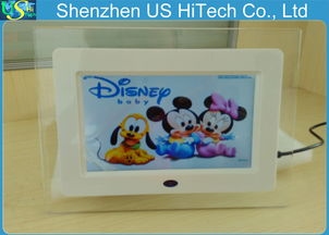 ...back 7 Inch Small Digital Picture Frame With Earphone Interface 200...