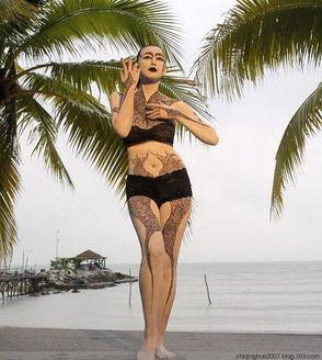 020期 惊艳泰国人体彩绘节 人体风姿展现自然之美