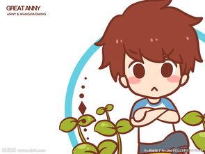 卡通可爱绿色男孩图片