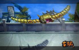 到了新手出生地凤鸣山.玩家在游戏初期,就可以看见上古龙人从飞行...