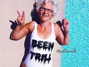 86岁时尚老妇泳装照走红