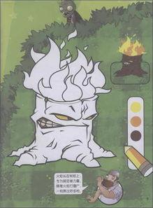 植物大战僵尸游戏书 涂色1