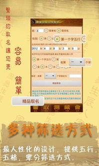 周易生辰八字取名起名 v10.27.0.0 安卓版-阿启取名大师 根据中国传统...