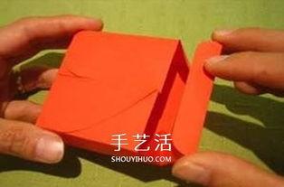 情人节礼品盒的折法 带爱心包装盒折纸图解