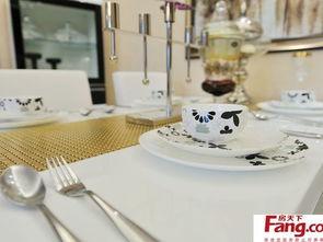 ...017现代家居餐桌餐具图片 房天下装修效果图