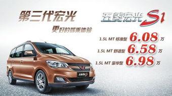 五菱宏光S1售价6.08万 6.98万