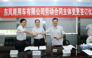 ...三方代表共同就劳动合同变更进行签字盖章 刘鸿飞 摄 -东风汽车报多...