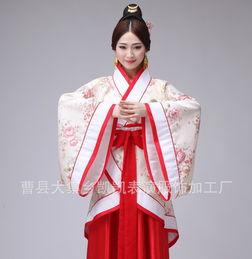 ...装曲裾演出服 古代成人女装汉服 民族古风服装-中国古代的衣服大多...