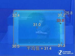 一小时视频播放温度测试正面-全志A80八核第一弹 昂达V989平板评测