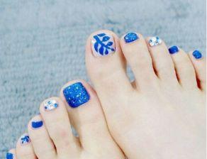 夏天脚趾纯色美甲图片 脚指甲美甲2017最新图案