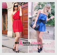 这红蓝两种鲜艳的色调,让你在夏日格外的出色.无论是斜肩还是裹胸...