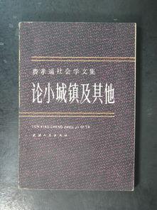 费孝通社会学文集 .论小城镇及其他 天津人民1985年版 布衣书局