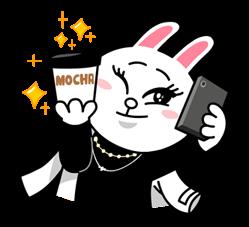 line 灰兔子