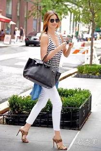 白裤子搭配图片 夏天有TA更清爽
