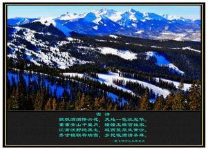 雪的古诗-——雪飞原创诗词作品   飘飘洒洒降六花,天地一色放光华.   重重山...