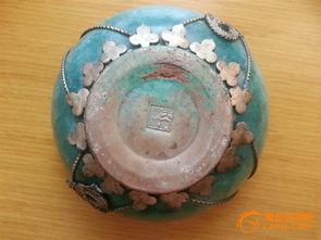 天府纹银龙凤碗,成化青花瓷盘