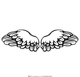翅膀符号一左一右