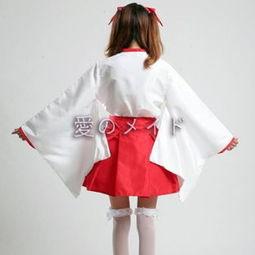 巫仆-初音打歌 cos服 女巫服 和服女装 COSPLAY女仆