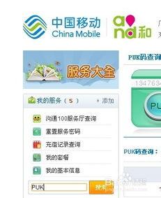 甘肃联通用户如何自助查询手机PUK码