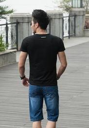 ...休闲牛仔中裤5五分裤男直筒牛仔短裤 男装超薄超软潮