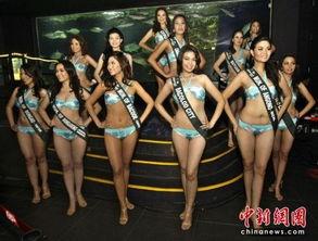 菲律宾美女亮相马尼拉海洋公园 秀性感身材