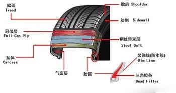 轮x俱乐部磁力1 4-1.轮胎胎面:1个厚厚的橡胶层,提供了与地面的接触界面,还具有排...