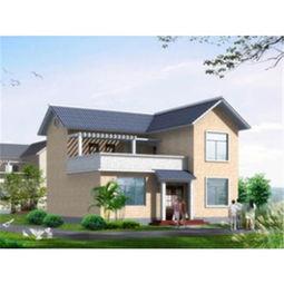 乡村自建二层小洋楼别墅设计效果图