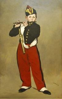 吹笛子的外国男孩油画下载 1353973