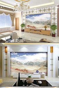 高清石纹背景墙万古晴空 16503200 大理石背景墙