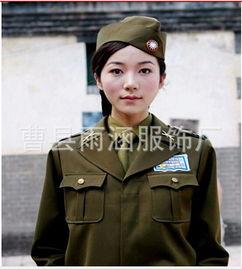 女军官男民国军装军官服国民党女特务服表演服演出现货供应
