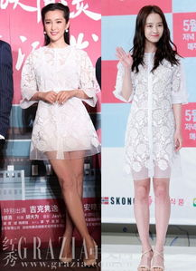 姐也色王梦溪- 蕾丝裙特别适合小女生,白色的衬裙容易给人有膨胀感,冰冰姐选了这...