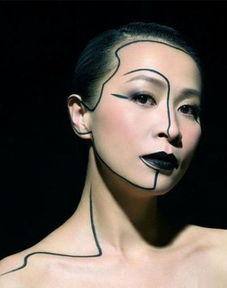 【14p】老撸哥第四色-刘嘉玲   夸张独特的化妆手法,整个妆容都是以黑色为主调;黑色的眼...