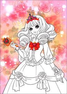 美少女炫彩涂色 华丽公主 平装