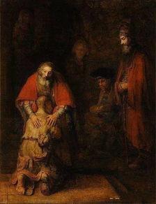 约瑟与幼年耶稣的眼神交流是整幅画作的核心.他温柔的眼神,流露出...