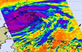 分分彩前三中三后三-2013年11月8日,世界标准时间4点59分,Aqua卫星捕捉到的红外模拟...