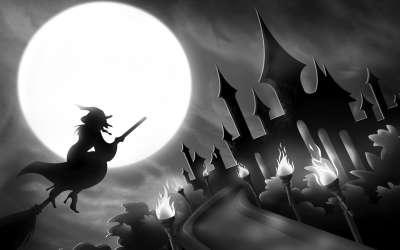骑上扫帚的小女巫