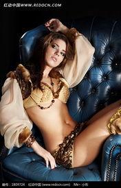 金色性感美女模特人物高清摄影图片图片 1809724
