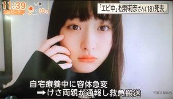 日本少女偶像松野莉奈去世年仅18岁 生前照片资料