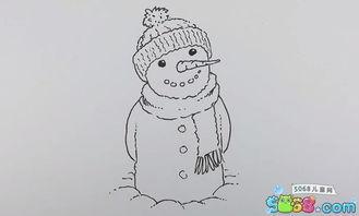 一步一步教你画雪人 水彩画雪人的画法 7