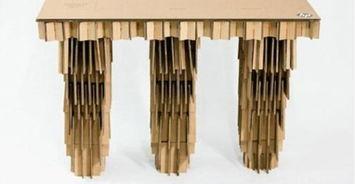 DIY纸板电脑桌