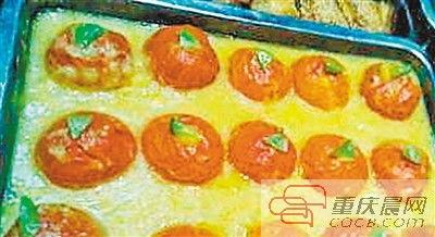 华南农业大学:鸡蛋蒸番茄,这可不是普通的番茄,而是番茄挖空塞进...