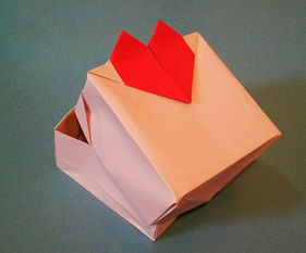 ...节折纸心手工折纸盒子的折法教程