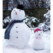 好看的雪人图片 创意的堆雪人图片大全 21