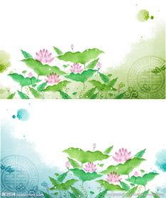 手绘莲花画图片