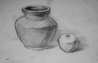 素描入门 素描石膏体圆锥的起形方法