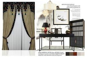 设计师头疼的新中式窗帘搭配问题被我们解决了