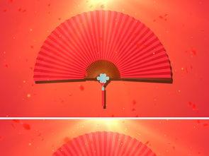 中国风戏曲相声折扇LED背景视频模板素材 高清MP4格式下载 视频70....