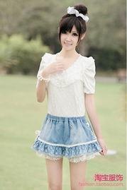 艹白妞-泡泡袖公主衫,与蕾丝的结合,打造出精致动人的奢华气息.大领的设...